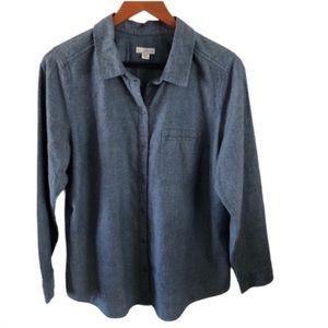 J. JILL Denim Button Down Shirt